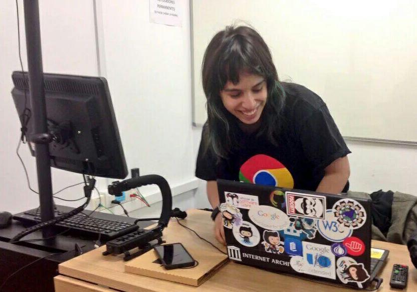 Paula de la Hoz, monitora del Campus tecnológico de chicas UGR 2016